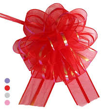 Diy Car Decor Online Shop Pull Flower Ribbon Bow Gift Wrap Candy Box Accessories