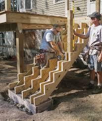 stronger smarter deck stairs fine homebuilding