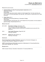 Samples Of Resume Writing by Resume Example It Security Careerperfectcom Information