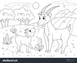 childrens cartoon coloring book farm animals stock vector