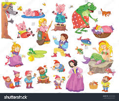 cute funny fairy tale characters stock illustration 520167430