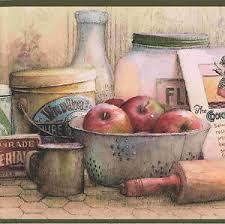 kitchen u0026 cooking ingredients wallpaper border 24501c ebay