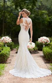 bridal wedding dresses best 25 trumpet wedding dresses ideas on fitted lace