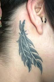 native feather tattoo designs for men on behind ear in 2017 real