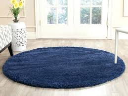 thick area rugs big navy blue shag rug collection 5 1 x round drop