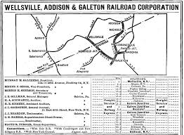 Pennsylvania Railroad Map by The Wellsville Addison U0026 Galeton Railroad