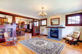 arts and crafts style homes interior design beautiful old craftsman style home living room interior with