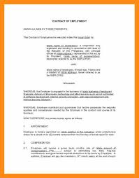 sample certificate of employment and compensation 6 sample employment contract actor resumed