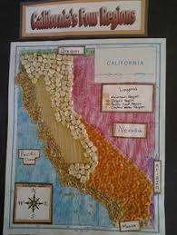 california map project idea display a regional map of california with the regions of