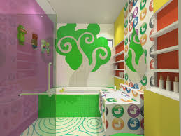 bathroom wall decals travelcompanionswebseries contemporary cheerful kids bathroom interior design with decorative polka
