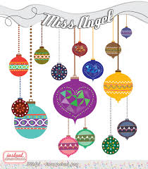christmas clipart balls geometric decor xmas ornaments 15