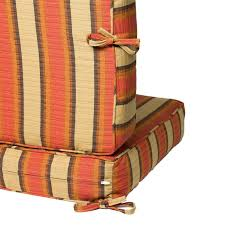 Patio Furniture Cushion Replacement Three Pieces Outdoor Cushion Sets With Brown Striped Pattern With