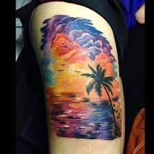 delightful sunset and tattoos ideas gallery