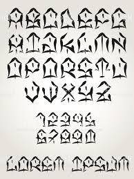 west coast graffiti font hand written tattoo lettering vector