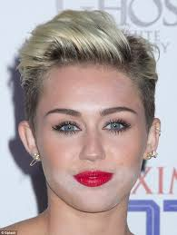 whats the name of the haircut miley cyrus usto have miley cyrus do not want to change her hairstyle