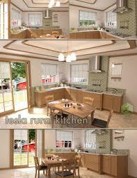 tesla rural kitchen 3d models and 3d software by daz 3d