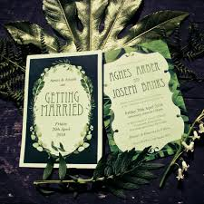 wedding invitations newcastle greenery leaves watercolour wedding invitations by magik moments