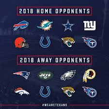 Houston Texans Flags Houston Texans Our 2018 Opponents Are Set Wearetexans Facebook
