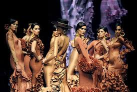 shot flamenco dresses on the runway flamenco dress fashion