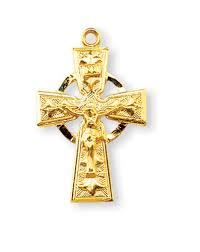 celtic crucifix 0 75 inch gold filled celtic crucifix