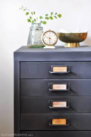 Metal Filing Cabinet Makeover The Painted Hive From Modern To Farmhouse A File Cabinet Hack