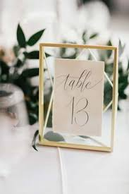 wedding table number ideas find your wedding style clear acrylic geometric table numbers