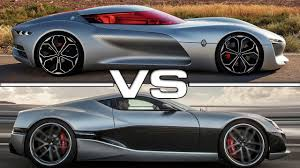 renault one renault trezor concept vs rimac concept one youtube