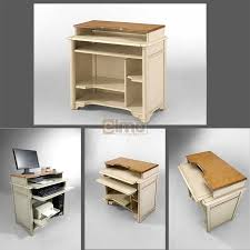 bureau informatique en bois informatique chêne massif bois et laque carry