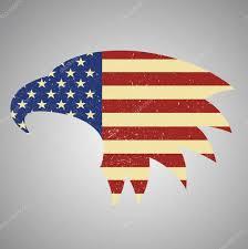 Eagles Flag American Eagle Flag American Flag Eagle Shaped U2014 Stock Vector