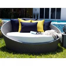 round daybed wicker round rattan pool chaise lounge sun lounger