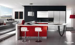 Kitchen With Bar Design Cozy Small Kitchen Design With Mini Bar And Stools Decoration