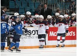 Players Bench Kamloops Fin Vs Usa Ww International Ice Hockey Federation Iihf