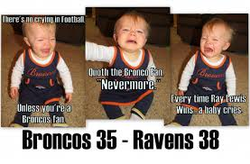 Broncos Fan Meme - baby memes for broncos season ending loss to the ravens