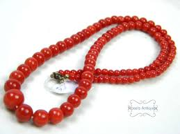 red coral bead necklace images Natural undyed natural red coral necklace gold rose 39 s antiques jpg