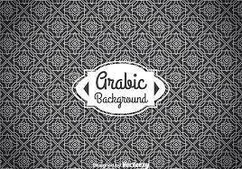 arabian ornament background free vector stock