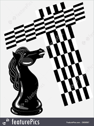 fancy chess boards board games knight chess piece stock illustration i2609557 at