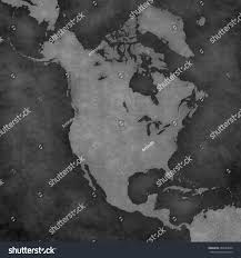 blank map north america country borders stock illustration