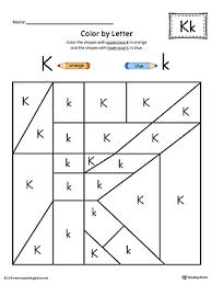lowercase letter k color by letter worksheet myteachingstation com