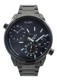 Jam Tangan Alba jual alba alba jam tangan pria black stainless steel a2a001