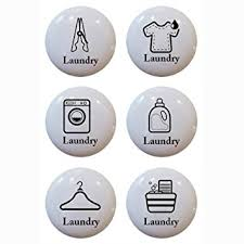 Laundry Room Cabinet Pulls Set Of 6 Laundry Theme Ceramic Knobs Pull Kitchen Drawer Cabinet