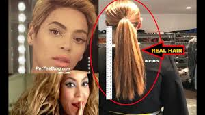 real hair beyoncé shows real hair its supposed to be a secret