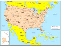 Canada And Usa Map by Download Map Of Canada And United States With Cities Major