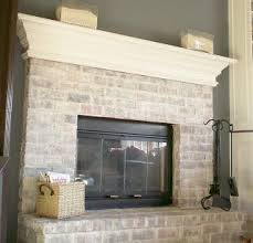 how to whitewash a dated brick fireplace brick fireplace