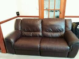 4 Seat Reclining Sofa by Calia Italia Real Leather 4 Seater Electric Reclining Sofa In