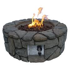 Personalized Fire Pit by Peaktop Stone Gas Outdoor Fire Pit Walmart Com