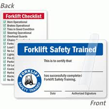 stylish free forklift certification card template df2m7