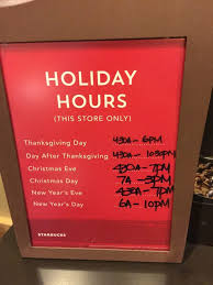 starbucks thanksgiving and black friday hours page 3