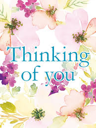 thinking of you cards flowery thinking of you card birthday greeting cards by davia
