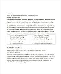 Sample Sales Executive Resume by Sales Executive Resume Templates 9 Free Word Pdf Format