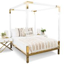 trousdale four poster lucite bed modshop